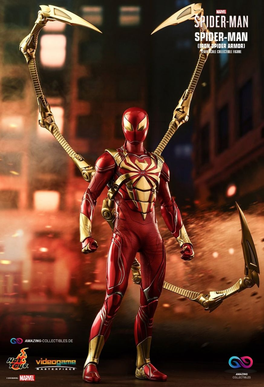 Hot Toys - Spiderman - Iron Spider Suit - Marvel Spiderman - PS4 Videogame