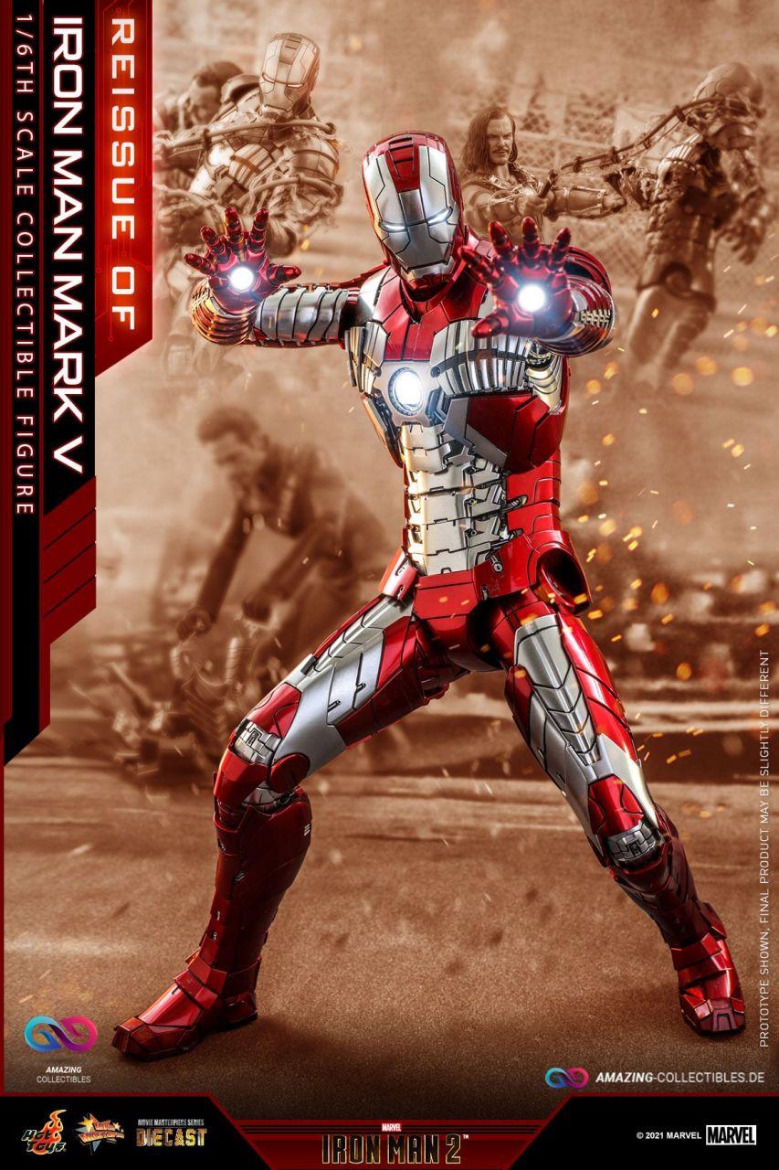 Hot Toys - Iron Man - Mark V Diecast - Re-Release - Iron Man 2