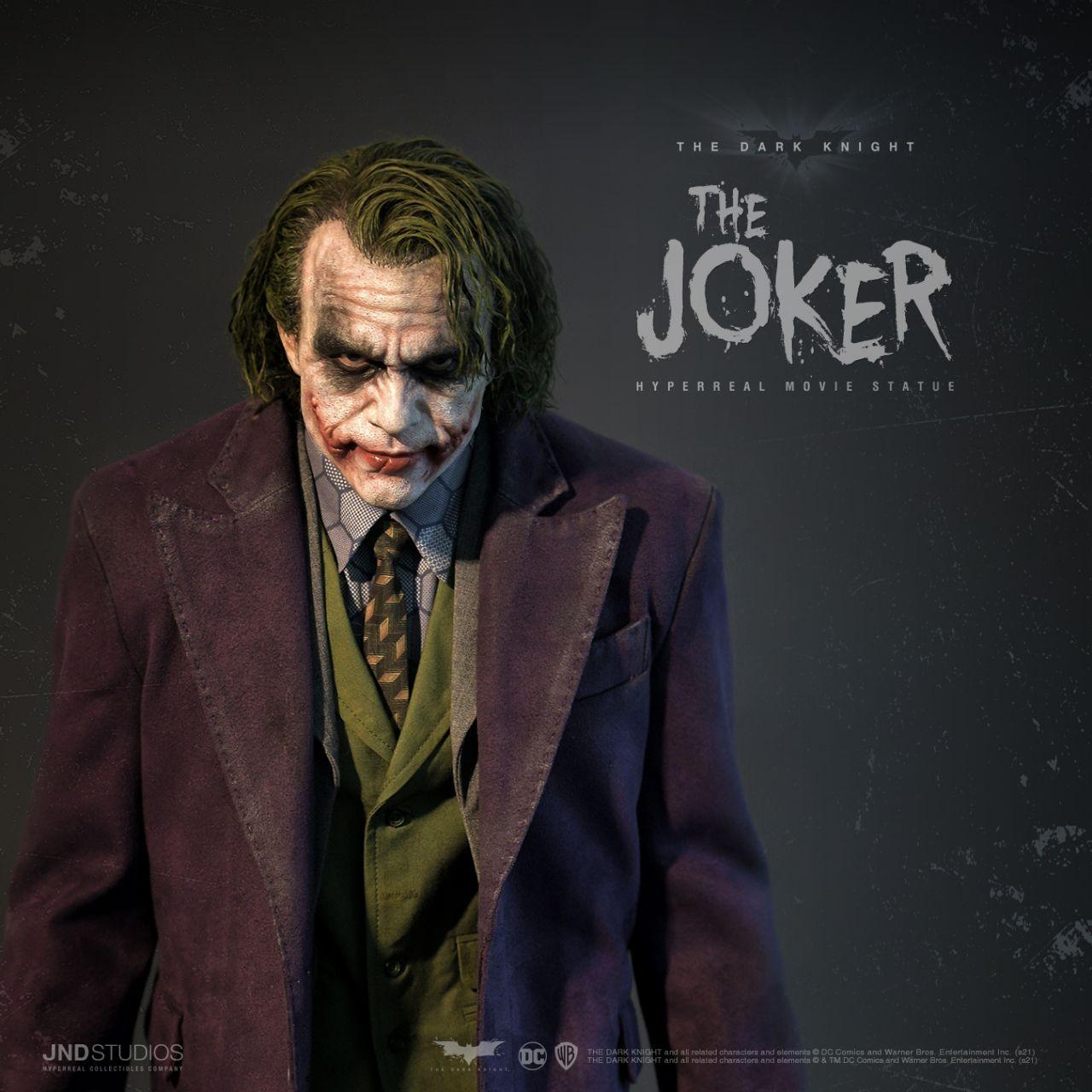 JND Studios - The Joker (Heath Ledger) - Hyperreal Movie Statue - The Dark Knight